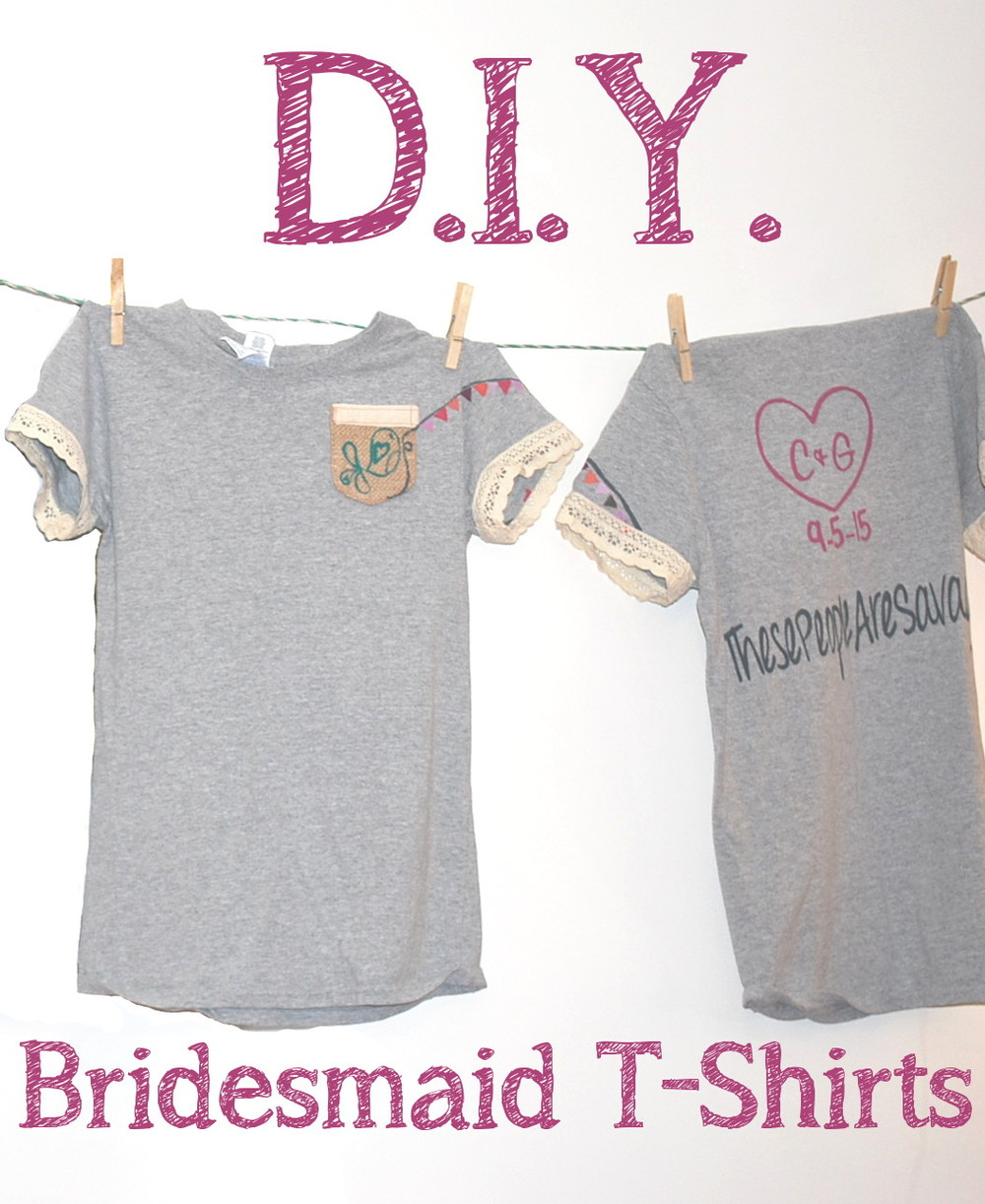DIY Bridesmaid T-Shirts