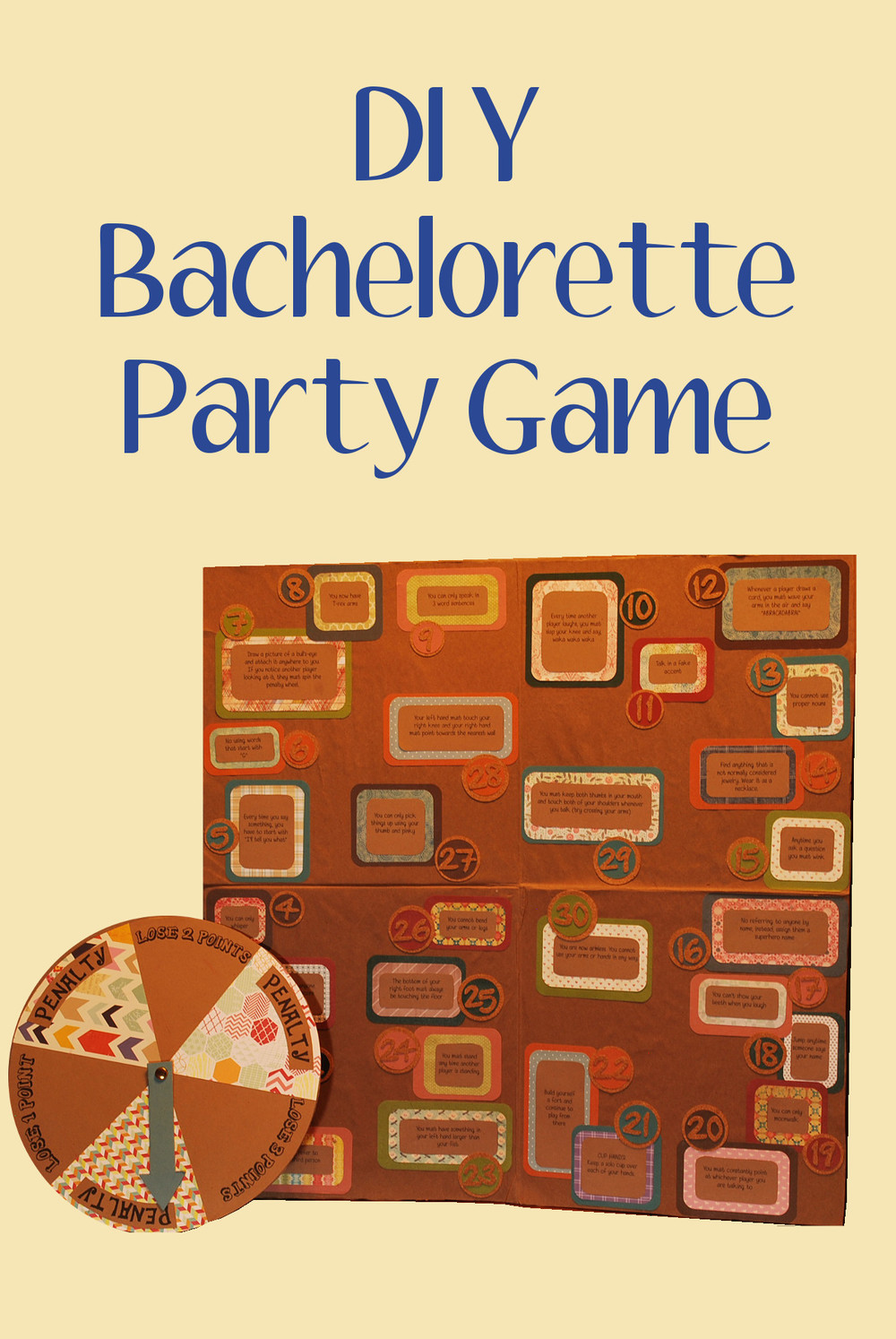 DIY bachelorette party game
