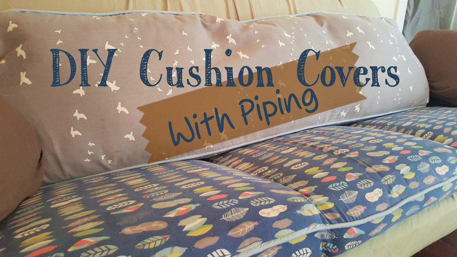 Diy Cushion Covers With Piping Whimsy Scribble