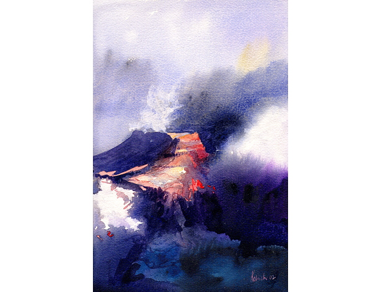 Grand Canyon in Snowstorm - (Sold)