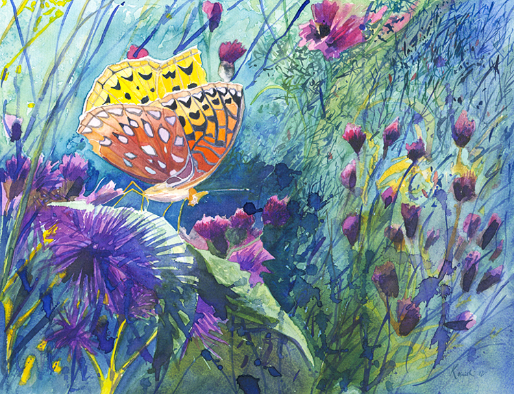Great Spangled Fritillary - (Sold)