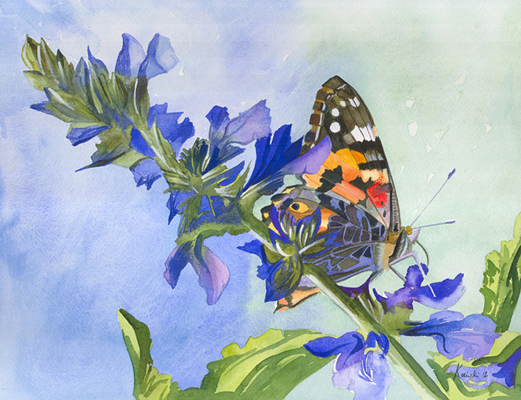 Painted Lady Butterfly (Sold)