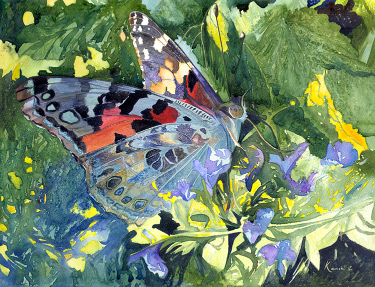 Painted Lady Butterfly - (Sold)