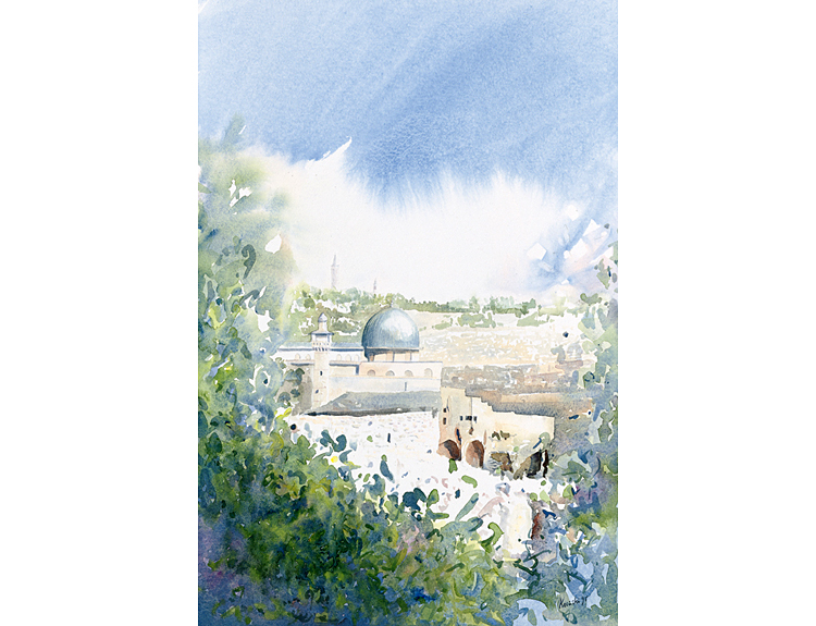Spring in Jerusalem - (Sold)