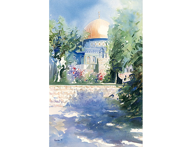 Shadows on Temple Mount - (Sold)