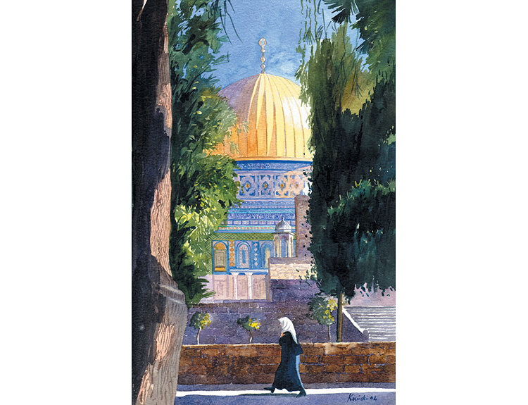 Morning Walk, Jerusalem - (Sold)