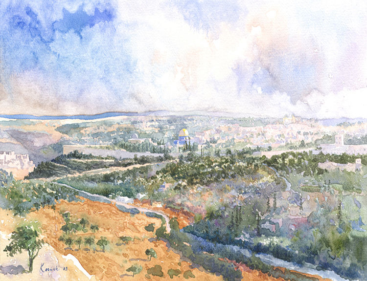 Jerusalem from Mount Scopus - (Sold)