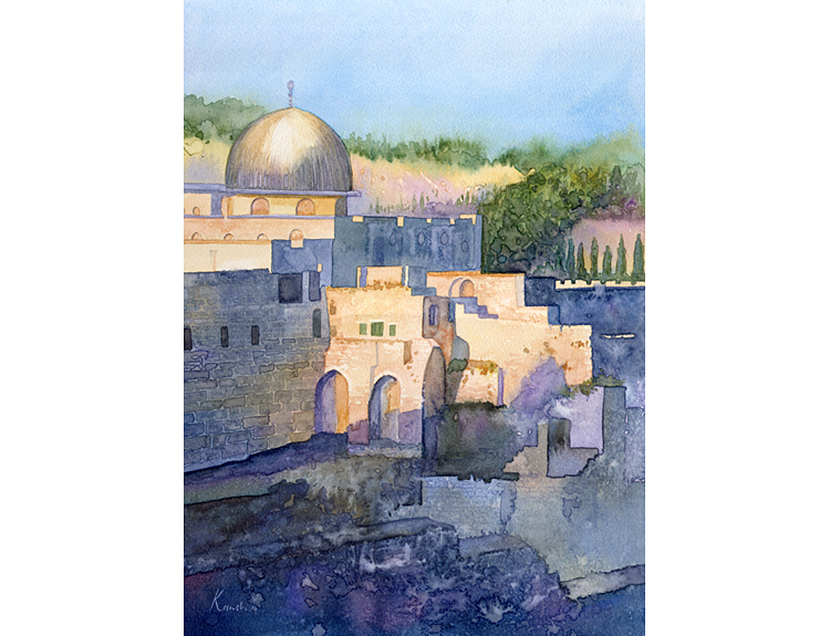 Evening Light, Jerusalem - (Sold)