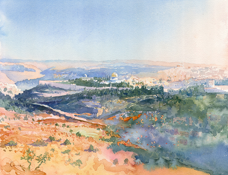 Jerusalem from Mount of Scopus - (Sold)