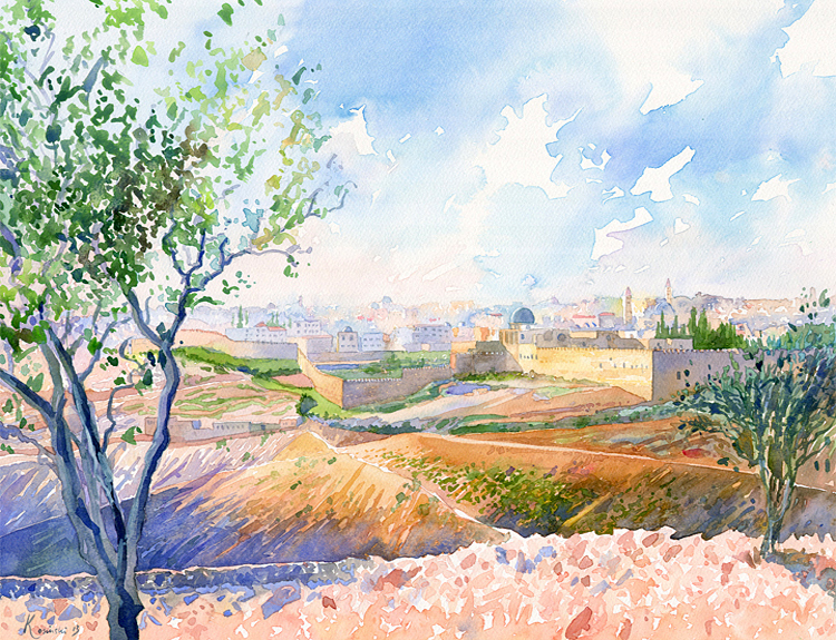 Jerusalem from Mount of Olives - (Sold)