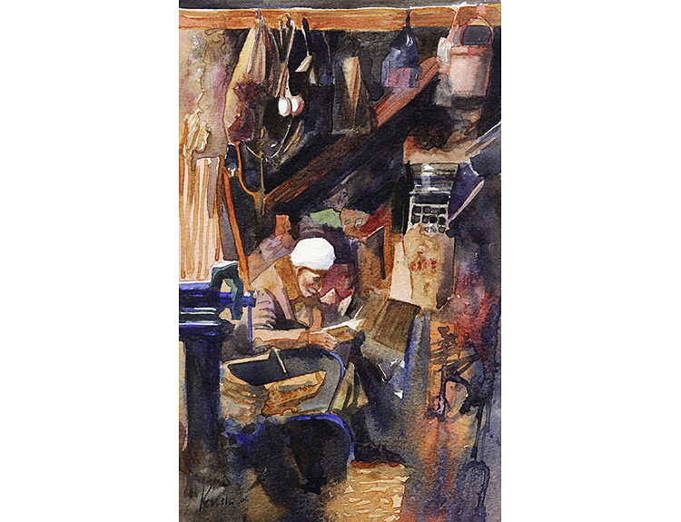 Shopkeeper in Aleppo, Syria (Sold)