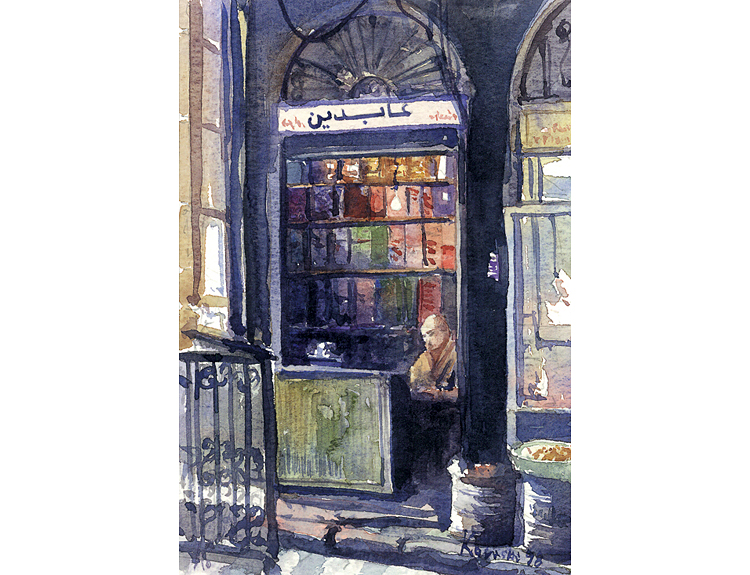 Abdeens Spice Shop, Damascus Souq, Syria (Sold)