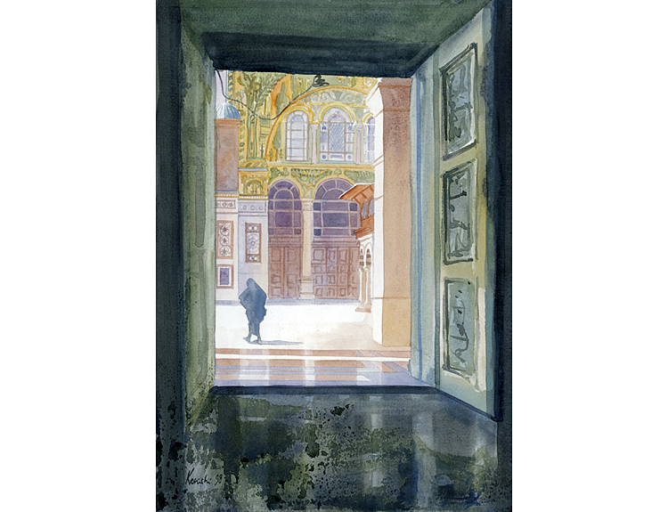 Doorway to Umayyad Courtyard, Damascus, Syria (Sold)