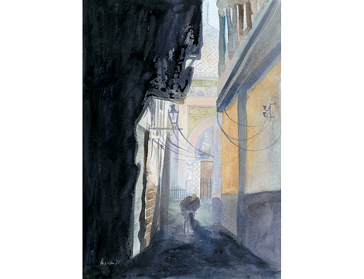 Damascus Street, Syria (Sold)