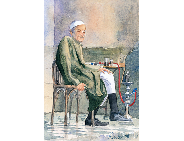 Damascus Cafe, Syria (Sold)