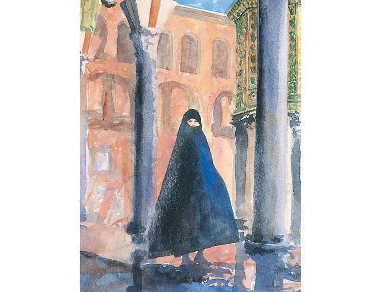 Umayyad Courtyard, Damascus, Syria (Sold)