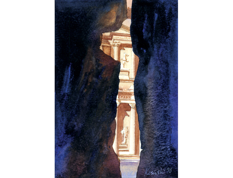 Approach to al Khazneh – Treasury of Pharaoh (Sold)