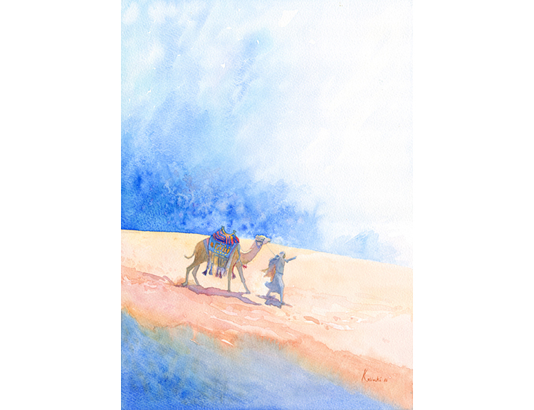 Camel Riders, Wadi Rum (Sold)