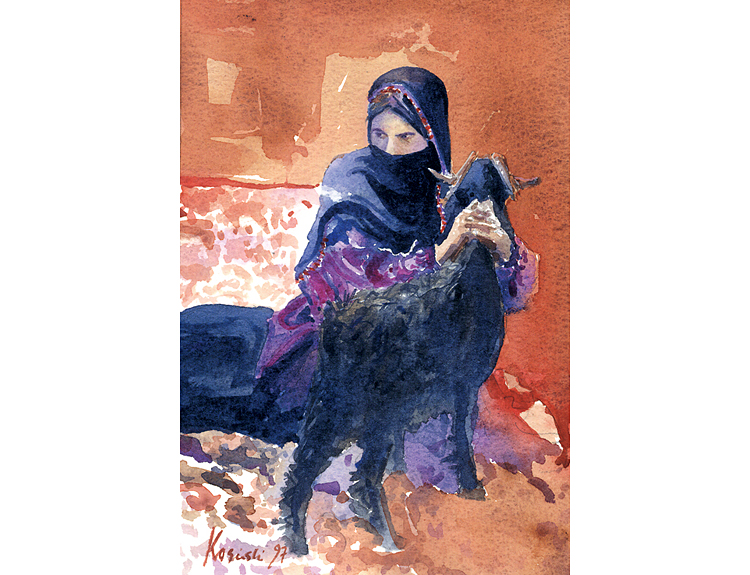Bedouin with Goat (Sold)