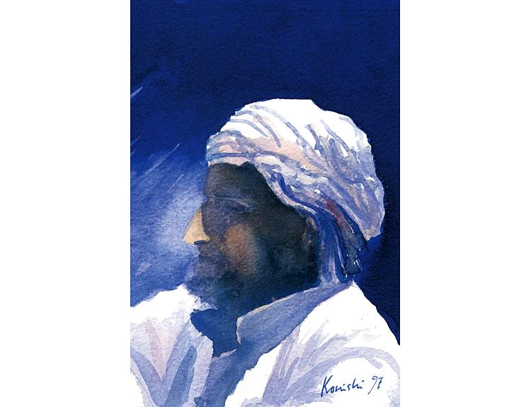 Figure in the Blue Desert, Sinai