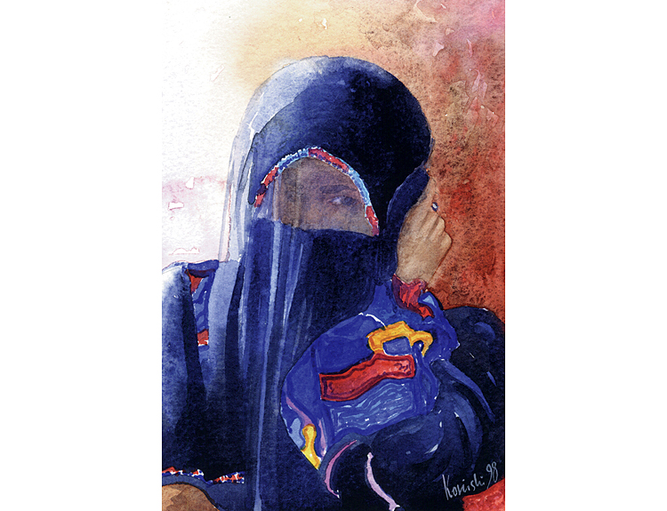 Veiled Bedouin Lady ( Sold)