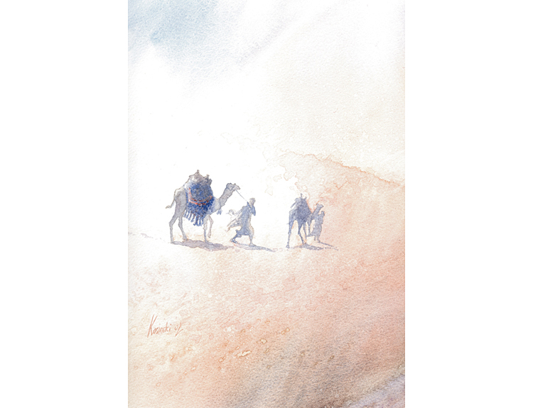 Camel Riders, Sinai (Sold)