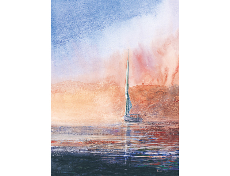 Felucca on the Nile (Sold)