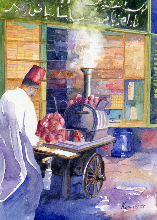Sweet Potato Seller, Cairo (Sold)