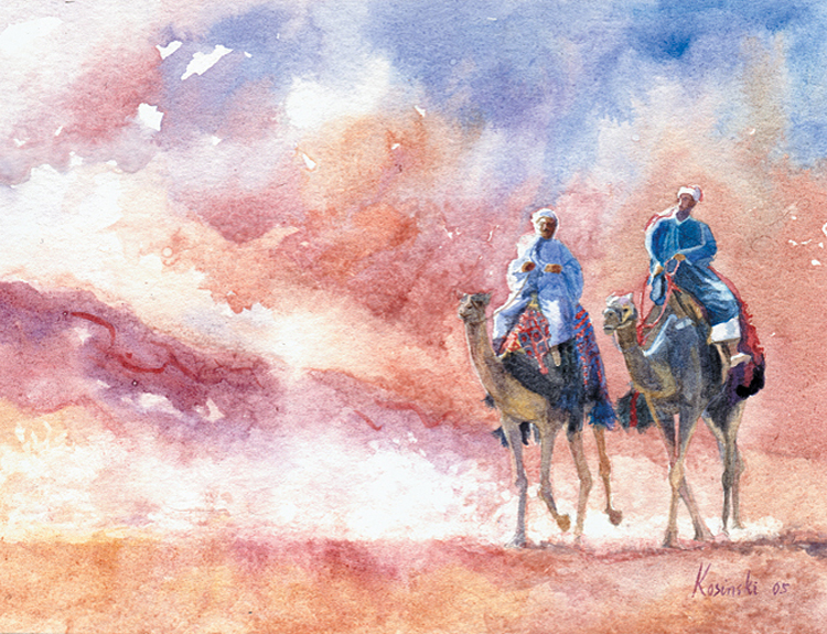 Camel Riders, Giza (Sold)