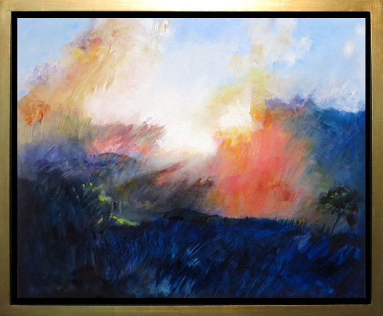 "Sunrise from Bear Pen, Ashe County, NC - 16"" x 20"" oil on canvas"