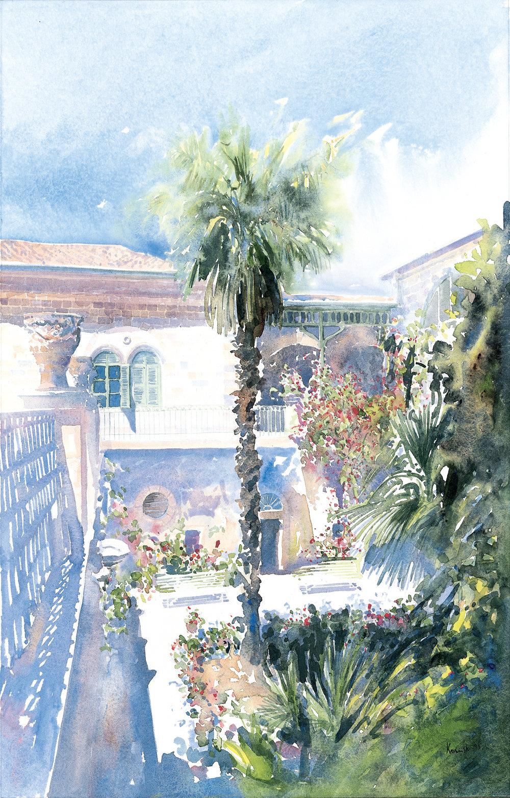 Ustinov Palm, American Colony, Jerusalem