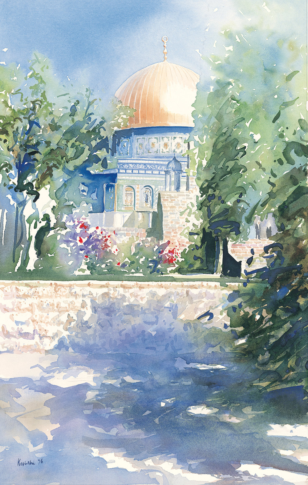 Shadows on Temple Mount, Jerusalem