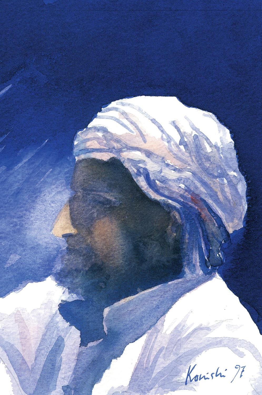 Bedouin in Blue Desert, Sinai