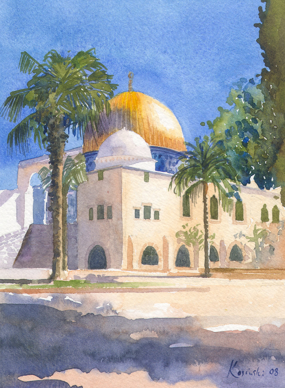 Domes on Temple Mount, Jerusalem