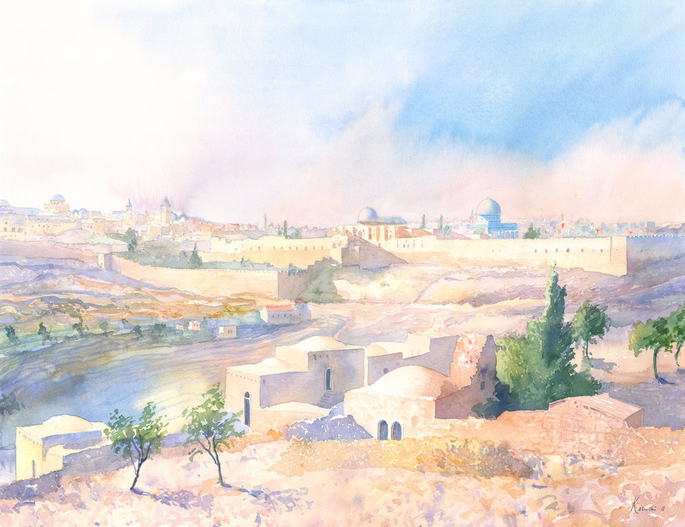 Jerusalem from the Jericho Rd