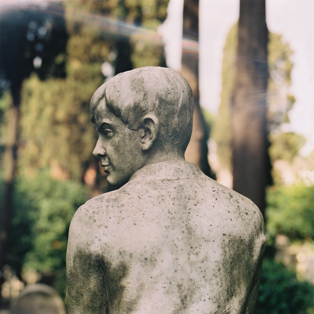 Cimitero Acattolico, Rome, 2015 (light leak)