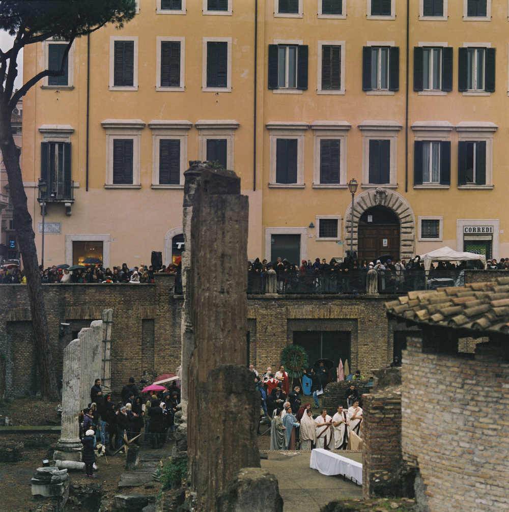 Area Sacra, Ides of March, Rome, 2015