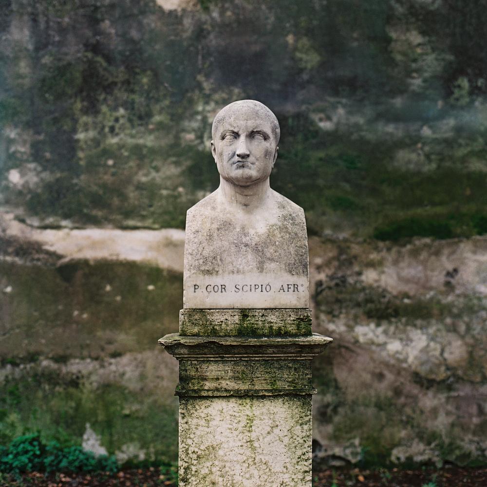 Publius Cornelius Scipio Africanus,Borghese Gardens, Rome, 2015