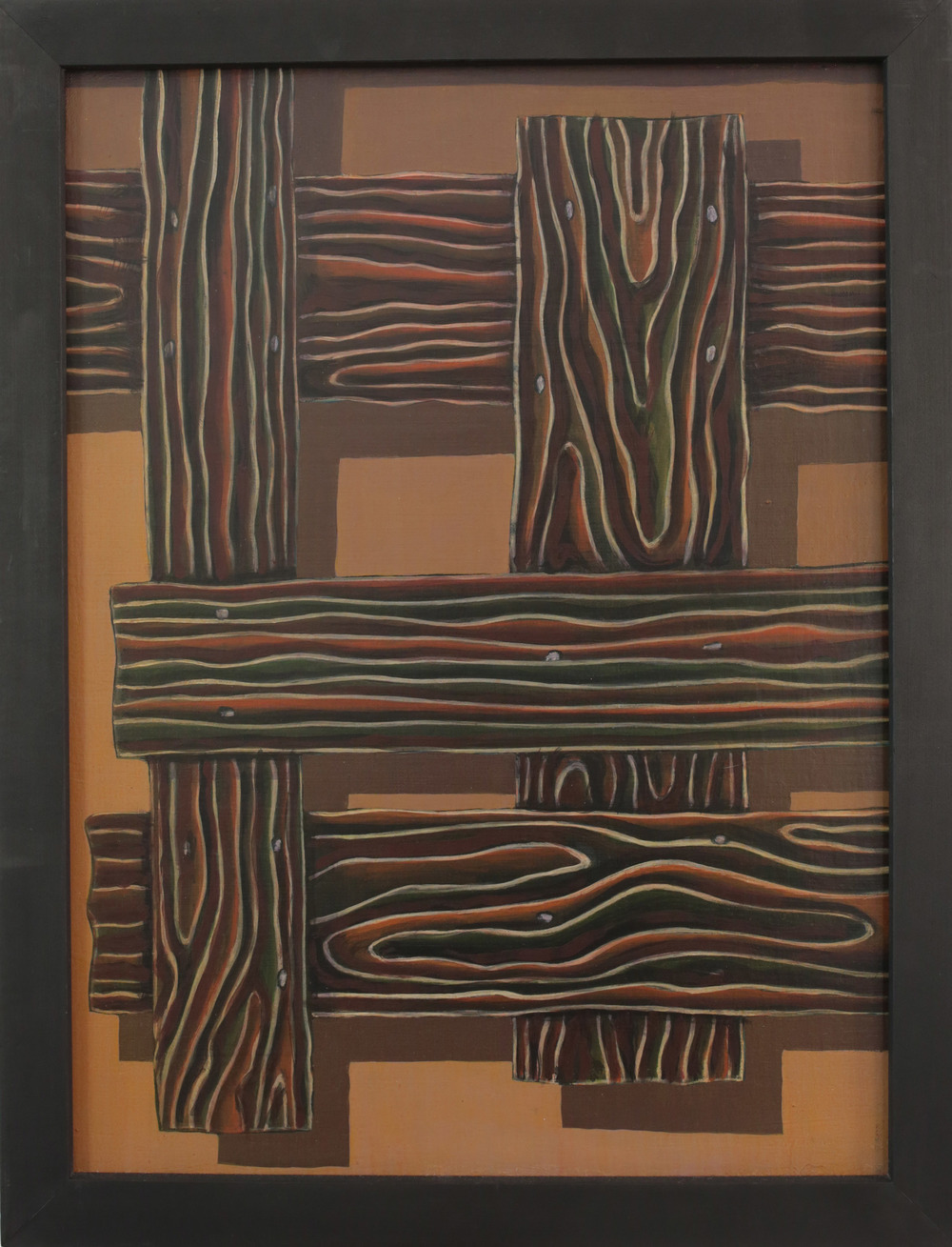 Cargo,   2014 P igment, acrylic polymer, and gesso on linen-mounted panel