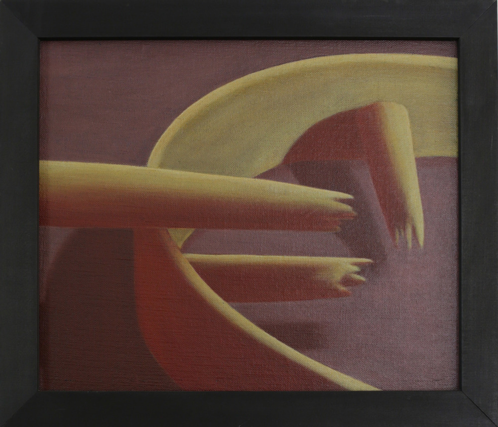 Hollow,   1990 Pigment, acrylic polymer, and gesso on linen-mounted panel