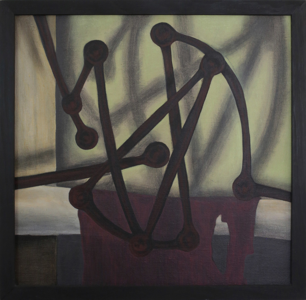 Frame,  1987 India ink, pigment, acrylic polymer, and gesso on linen-mounted panel