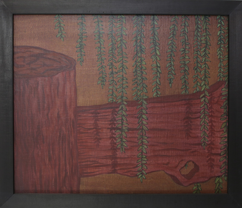 "Willow,    2008 P igment, acrylic polymer, and gesso on linen-mounted panel 8"" x 21"""