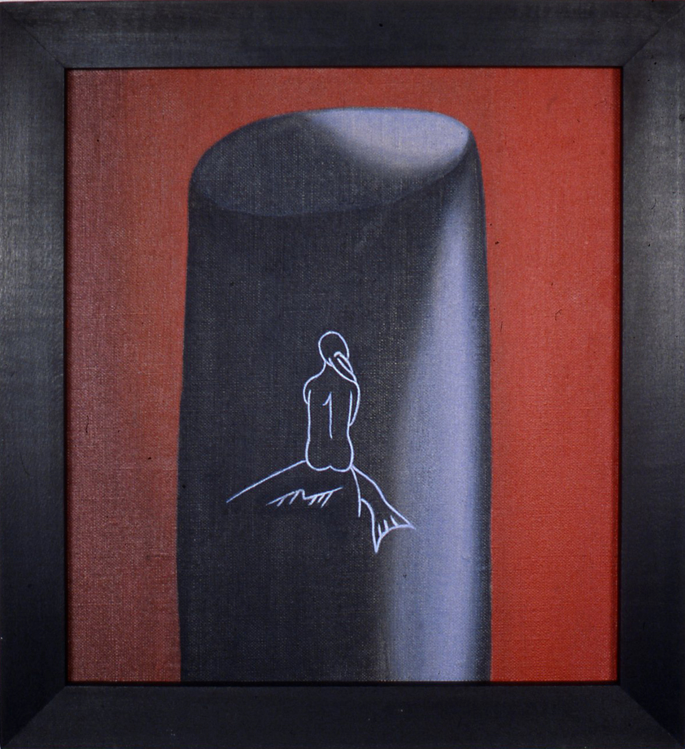 Whaler    ,  1991 Pigment, acrylic polymer, and gesso on linen-mounted panel