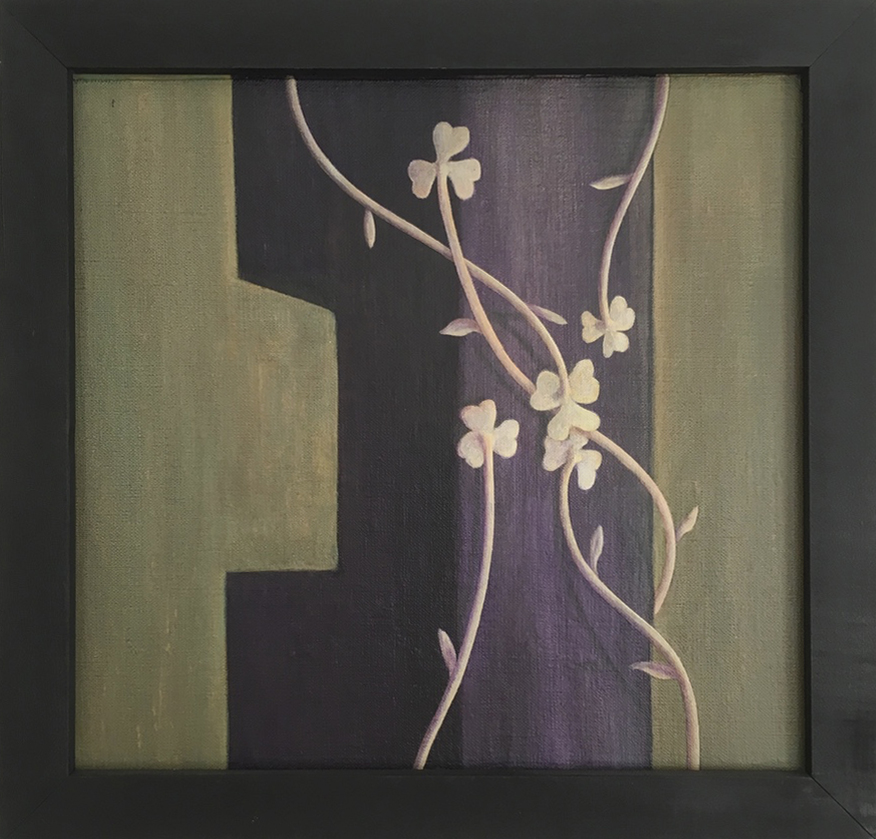 Trellis    ,  1990 Pigment, acrylic polymer, and gesso on linen-mounted panel