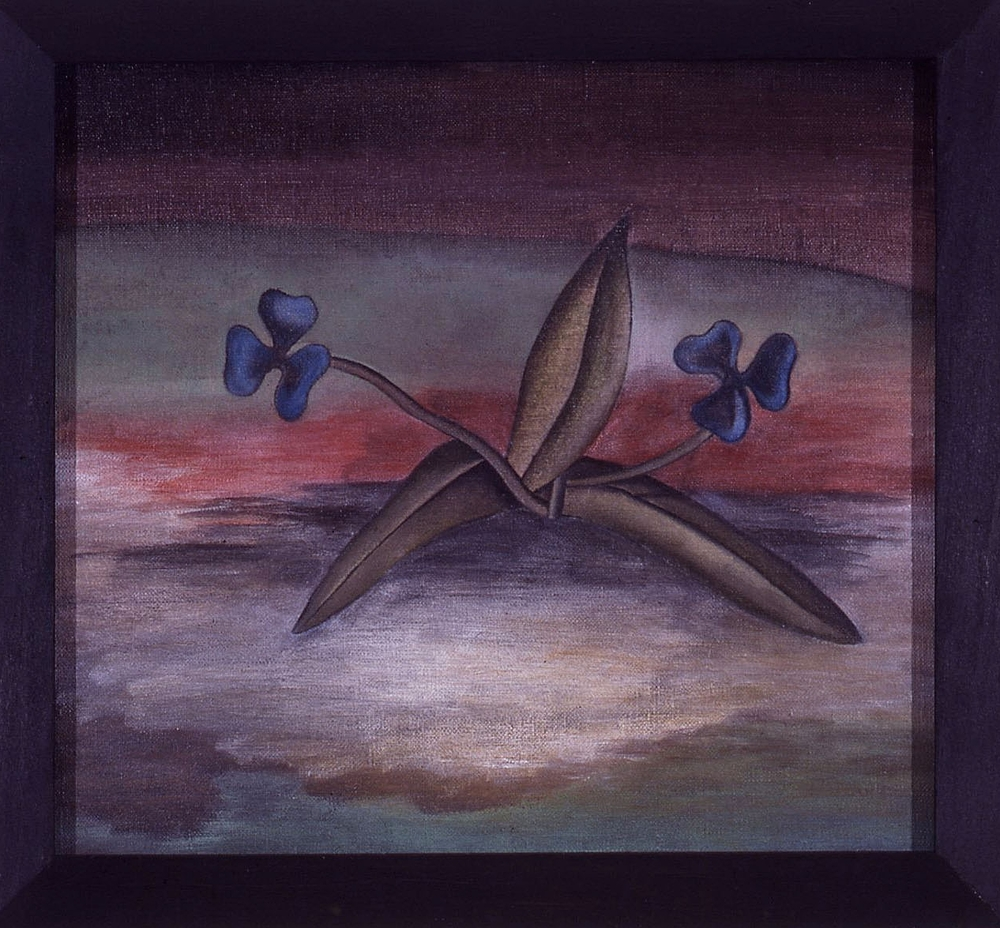 Poison,  1987 Pigment, acrylic polymer, and gesso on linen-mounted panel