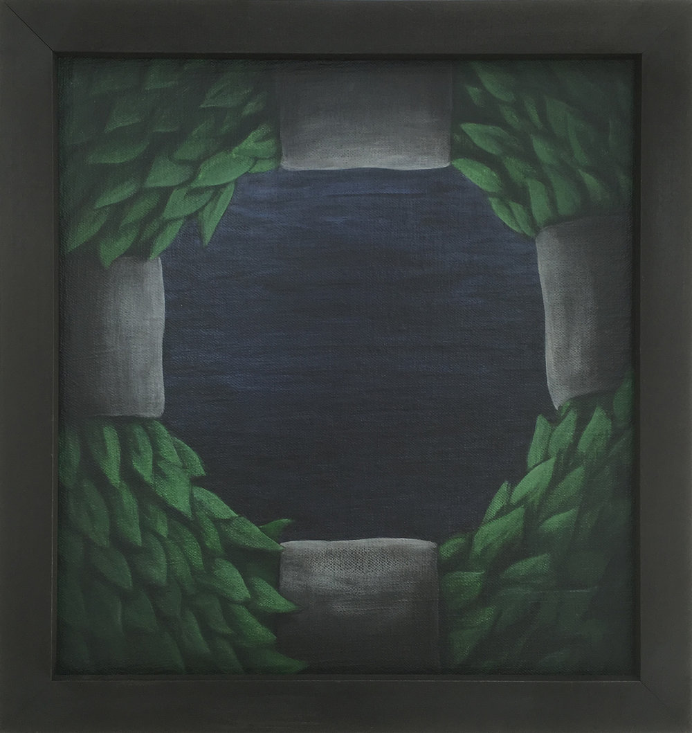 Wreath,   1990 Pigment, acrylic polymer, and gesso on linen-mounted panel