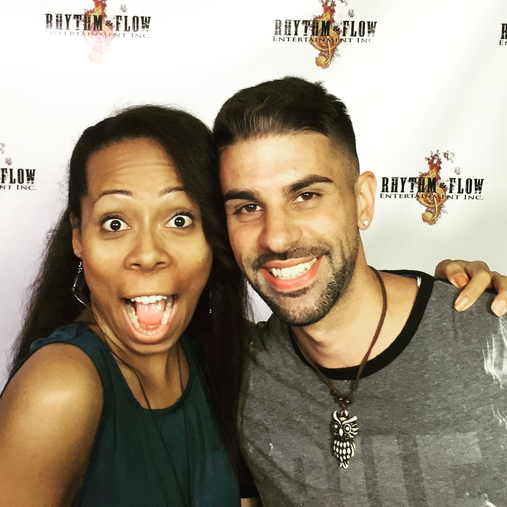 Actress Shanae Harris and Director Chase Michael Pallante at RHYTHM&FLOW ENTERTAINMENT INC. for rehearsals.