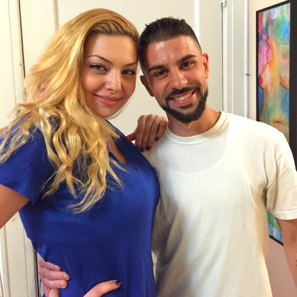 Actress Janet Miranda with Director Chase Michael Pallante