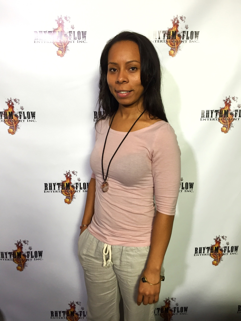 Actress Shanae Harris at RHYTHM&FLOW ENTERTAINMENT INC.