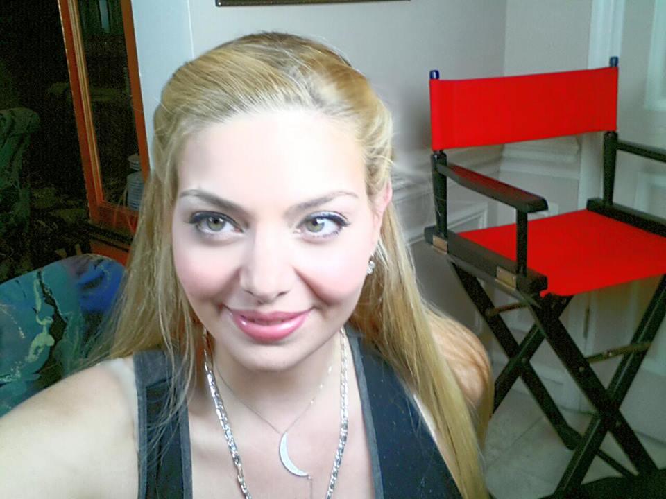 Actress Janet Miranda before makeup and hair application.
